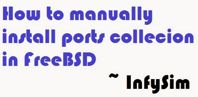 How-to-install-portsnap-in-freebsd