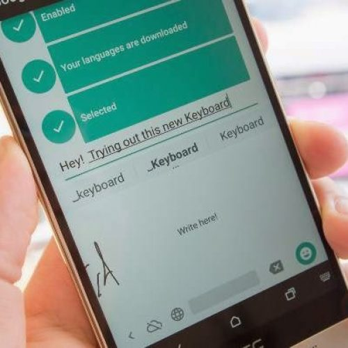 Google today released Handwriting Keyboard with 82 language support for Android phones