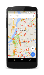 Traffic at Kolkata on Google Maps