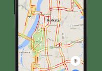 Traffic at Kolkata on Google Maps