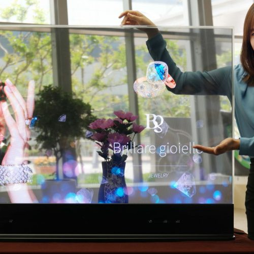 Samsung unveils transparent and mirrored display with Intel RealSense