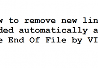 Removing new line at the End Of File in VIM