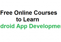 Free online Courses to Learn Android App Development