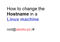 How to change the Hostname in a Linux Machine