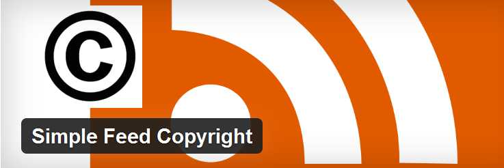Simple Feed Copyright WordPress plugin