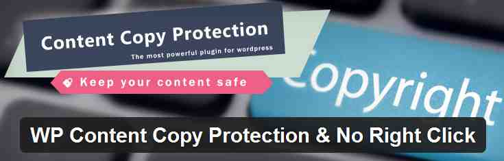 WP Content Copy Protection and No Right Click WordPress plugin